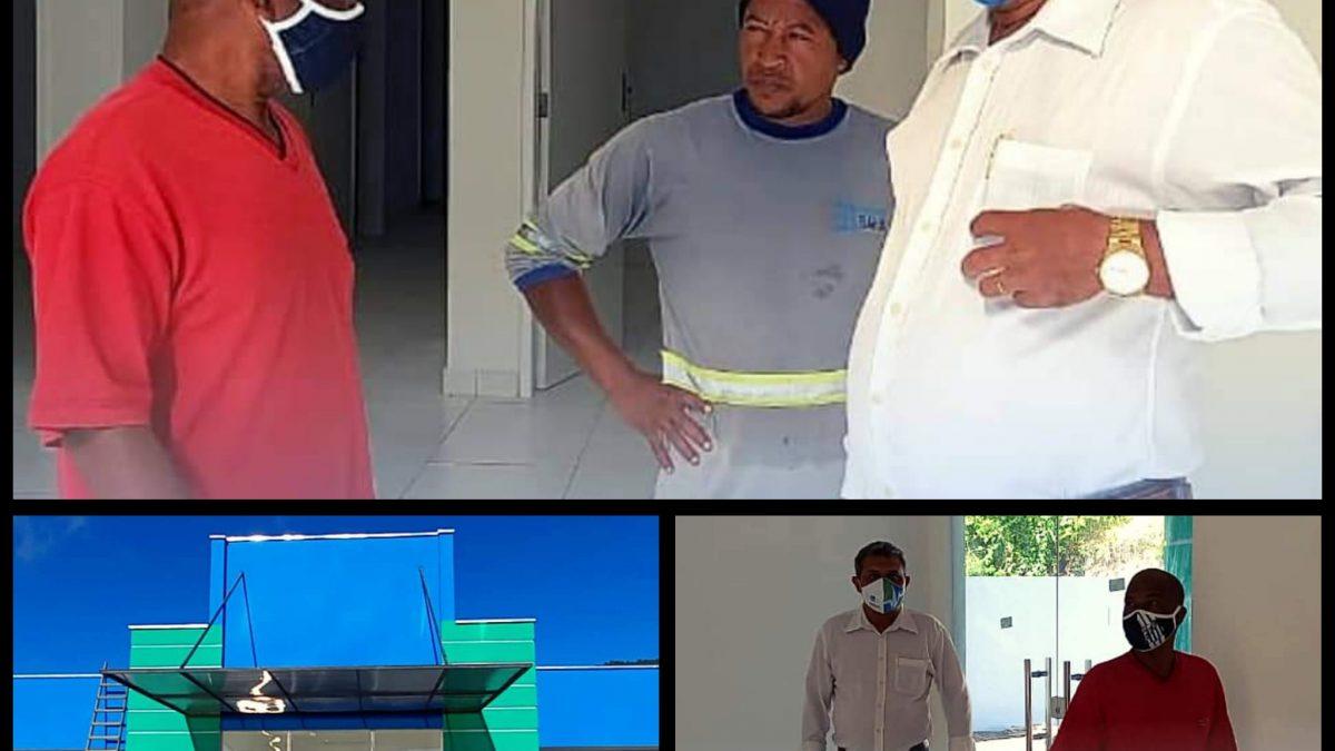 SÃO FÉLIX: VICE PREFEITO BARTINHO VISITA OBRA DA UNIDADE DE SAÚDE DO 135 (DONA VIVI)